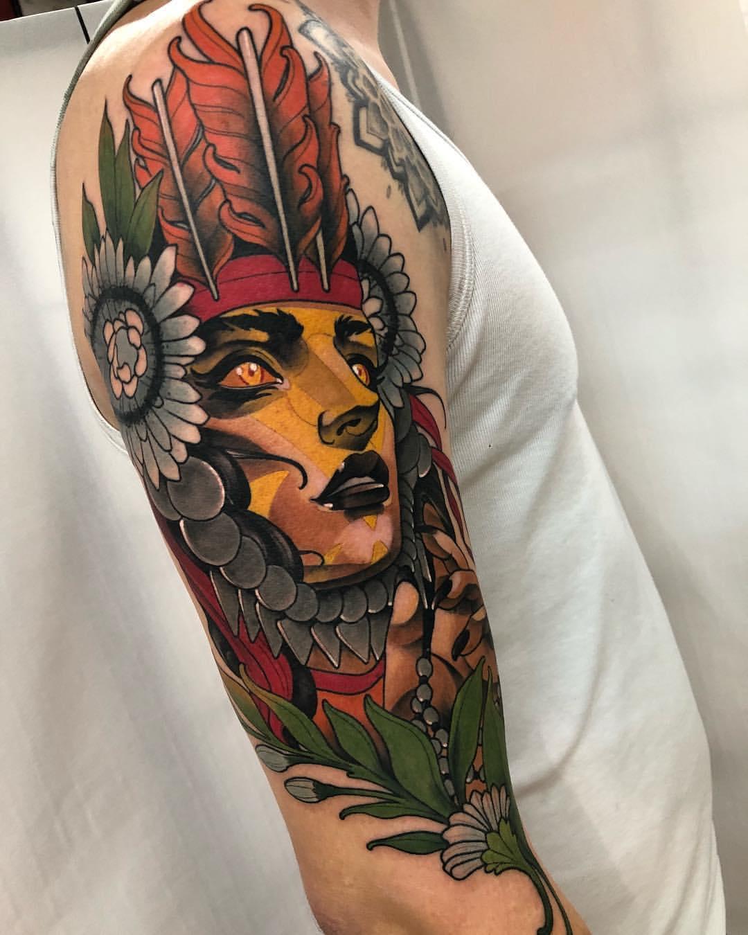 做外贸业务员的包先生大臂美女纹身图案