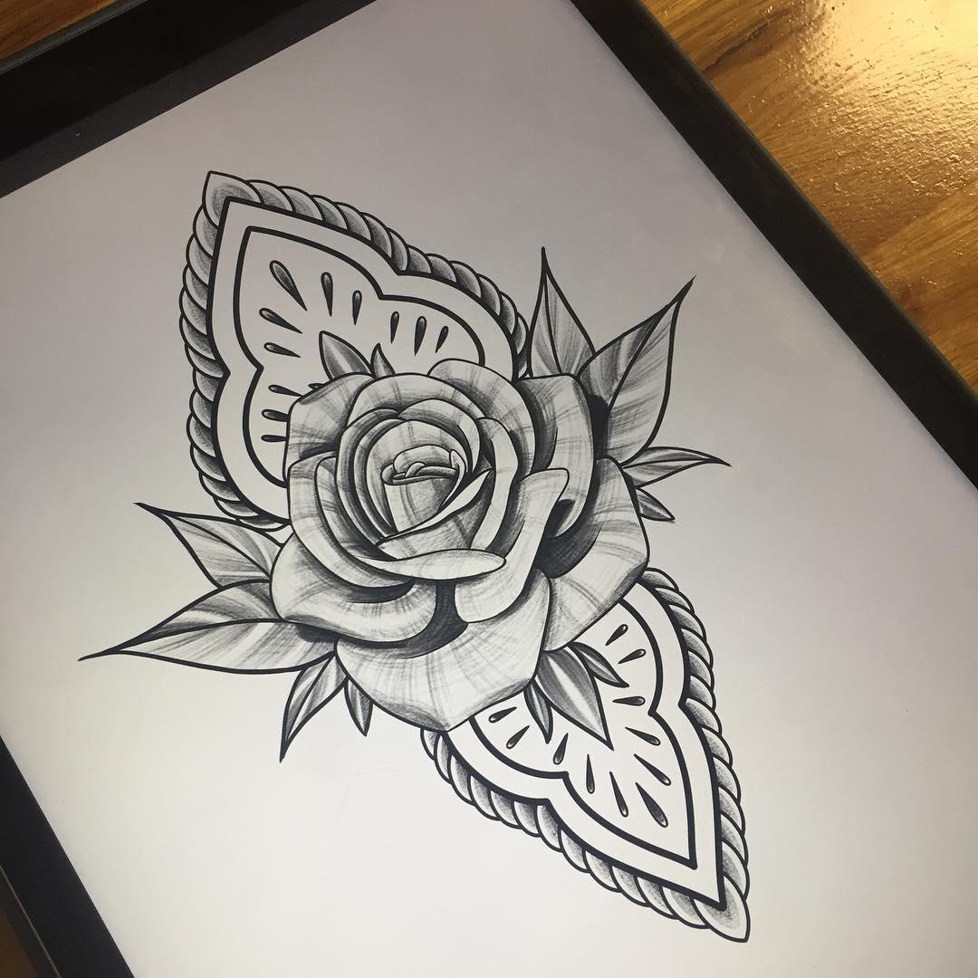 计小姐梵花牡丹纹身手稿         莫先生小臂印第安美女纹身图案
