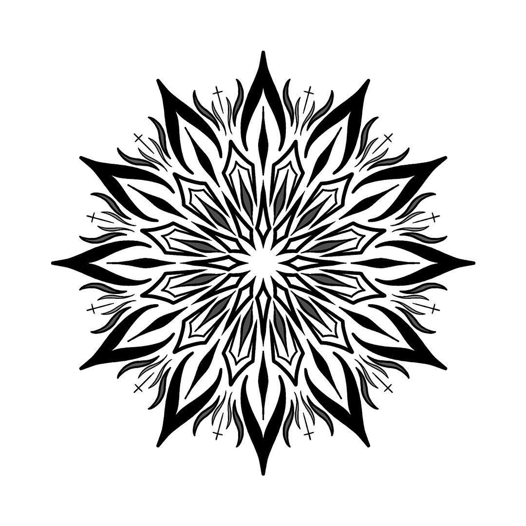 梵花骷髅纹身手稿         梵花音符佛手纹身手稿